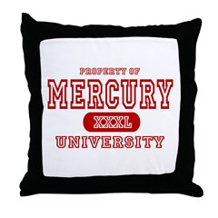 Mercury University Property Throw Pillow