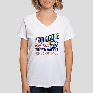 Swimming Was Easy Women's V-Neck T-Shirt