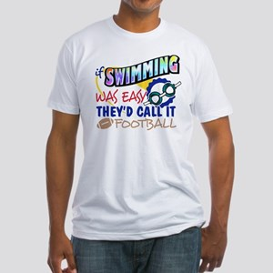 Swimming Was Easy Fitted T-Shirt