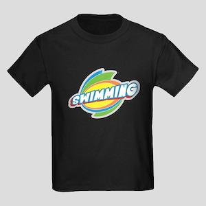 Swimming Burst Kids Dark T-Shirt