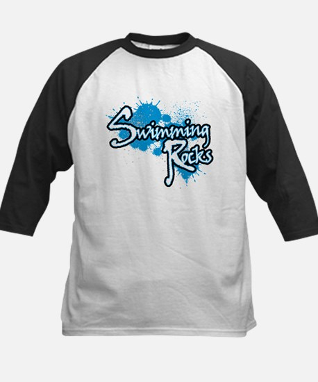 Swimming Rocks Splatter Kids Baseball Jersey