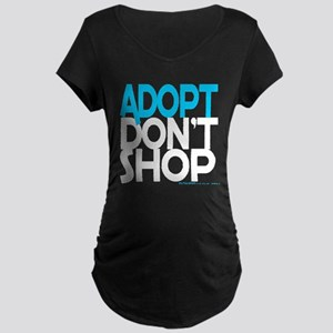 Adopt Dont Shop Maternity Dark T-Shirt