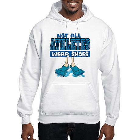 Swimming Not All Wear Shoes Hooded Sweatshirt