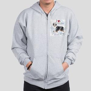 Miniature American Shepherd Zip Hoodie