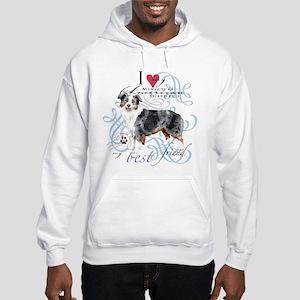 Miniature American Shepherd Hooded Sweatshirt