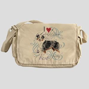 Miniature American Shepherd Messenger Bag