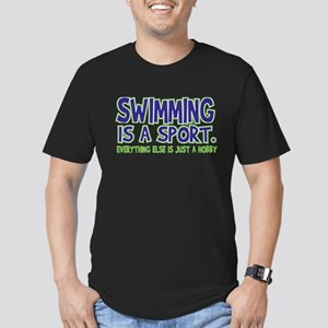 Swimming Is A Sport Men's Fitted T-Shirt (dark)