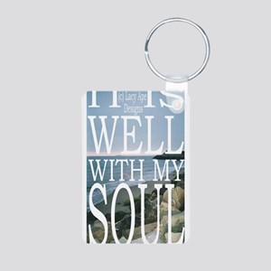 Hipster Photos: It Is Well Aluminum Photo Keychain
