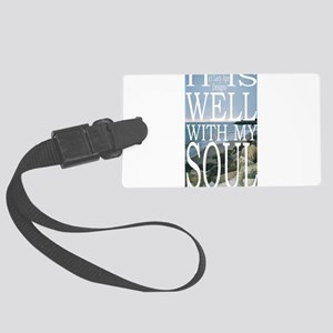Hipster Photos: It Is Well Large Luggage Tag