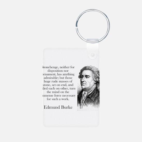 Stonehenge - Edmund Burke Keychains