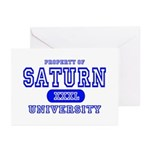 Saturn University Property Greeting Cards (Package