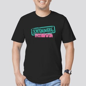 Swim is a way of Life Men's Fitted T-Shirt (dark)