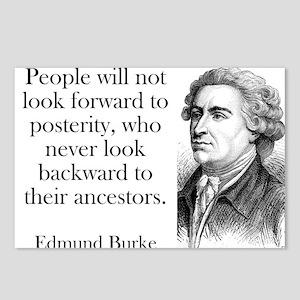 People Will Not Look Forward - Edmund Burke Postca