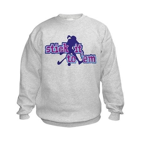 Field Hockey Stick It Kids Sweatshirt
