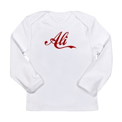 Ali name Long Sleeve Infant T-Shirt