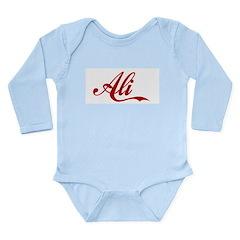 Ali name Long Sleeve Infant Bodysuit