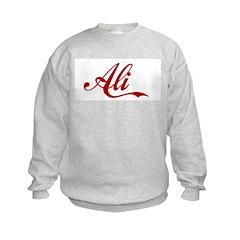 Ali name Kids Sweatshirt