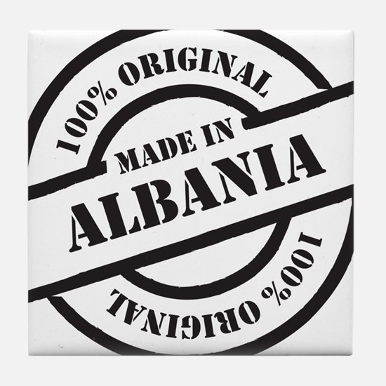 Made in Albania Tile Coaster