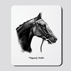 "Thoroughbred ""Vaguely Noble"" Mousepad"