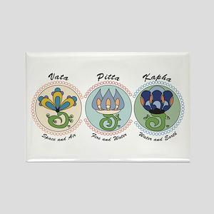 Vata-Pitta-Kapha Rectangle Magnet