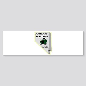 Area 51 Psyops Sticker (Bumper)