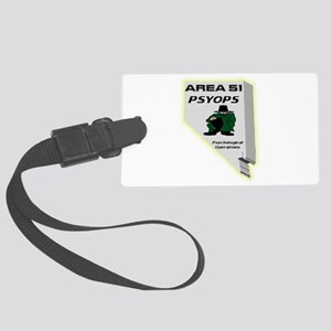 Area 51 Psyops Large Luggage Tag
