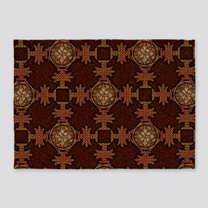 Celtic Knotwork Enamel 5'x7'Area Rug