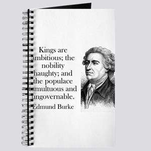 Kings Are Ambitious - Edmund Burke Journal