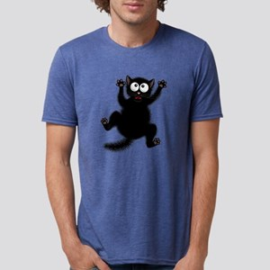 Funny Cat Cool Cartoon Cute Mens Tri-blend T-Shirt