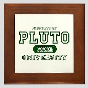 Pluto University Property Framed Tile