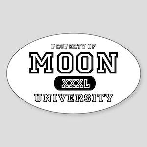 Moon University Property Oval Sticker