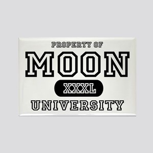 Moon University Property Rectangle Magnet