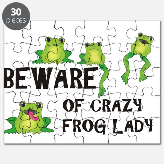 Beware of Crazy Frog Lady Puzzle