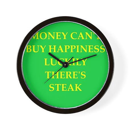 steak Wall Clock