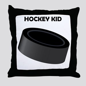 Hockey Kid Throw Pillow