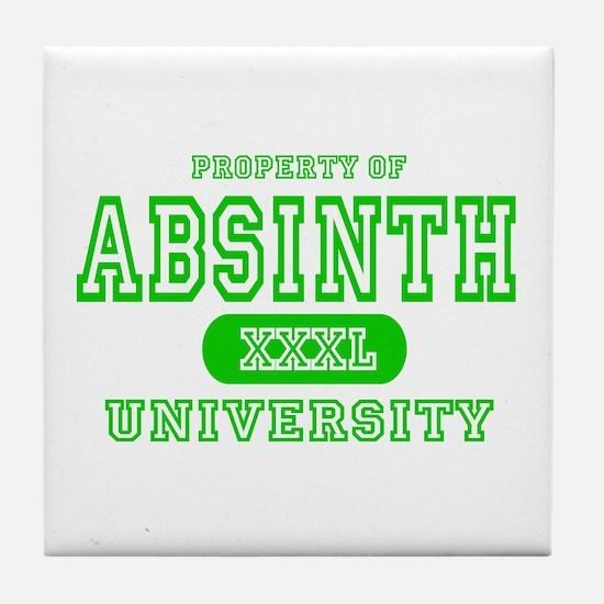 Absinth University Tile Coaster