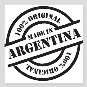 "Made in Argentina Square Car Magnet 3"" x 3"""