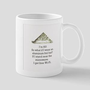60th Birthday Aluminum Foil Hat Mug