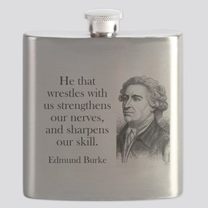 He That Wrestles With Us - Edmund Burke Flask