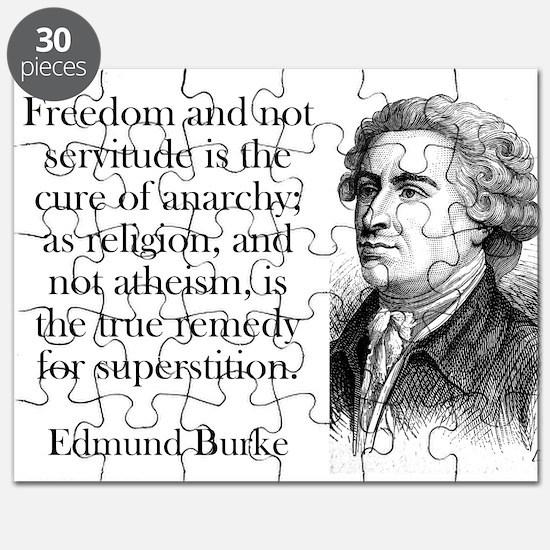 Freedom And Not Servitude - Edmund Burke Puzzle