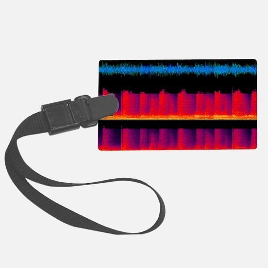 Sound waves, artwork - Luggage Tag
