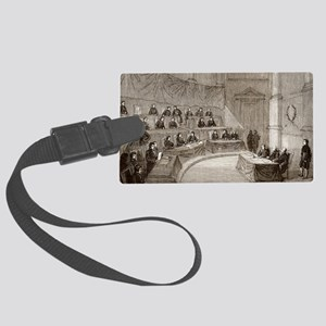 Volta at the French Academy - Large Luggage Tag