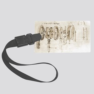 Da Vinci's notebook - Large Luggage Tag