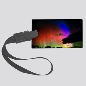 Aurora Borealis display with clouds - Large Luggag