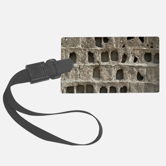 Eroded block wall - Luggage Tag