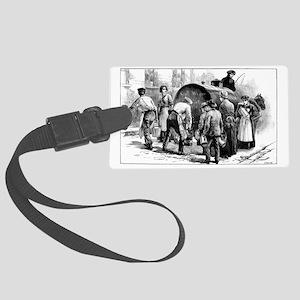 Cholera epidemic, 19th century - Large Luggage Tag
