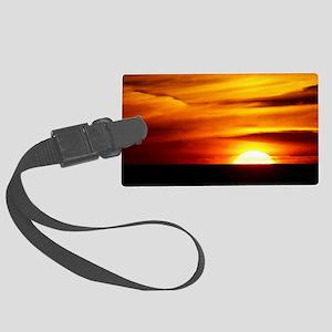 Sunset over the Black Sea - Large Luggage Tag