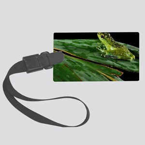 Tropical frog - Large Luggage Tag
