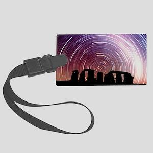 Composite image of star trails over Stonehenge - L