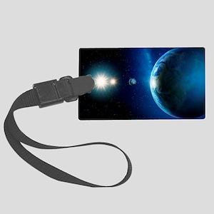Planet orbiting Antares, computer artwork - Large